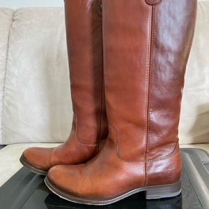 Frye Cognac Extended Riding Boots